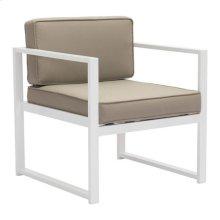 Golden Beach Arm Chair White & Taupe