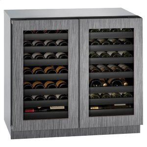 "U-Line36"" Dual-zone Wine Refrigerator With Integrated Frame Finish (115 V/60 Hz Volts /60 Hz Hz)"