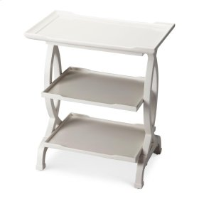 This tiered end table, is the perfect accessory to serve multiple purposes, whilst looking elegant. The lovely rectangular table fits perfectly into any corner of your room without creating clutter. It stands on four uniquely carved legs for a firm and an