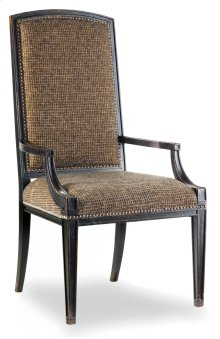 Dining Room Sanctuary Mirage Arm Chair-Ebony