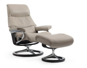 Stressless View Small Signature Base Chair and Ottoman
