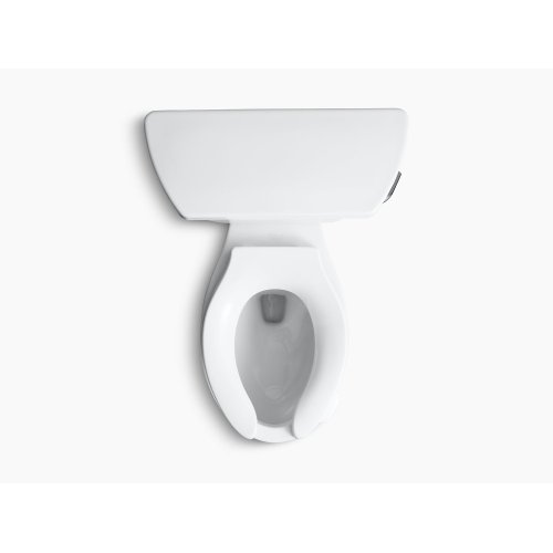 White Two-piece Elongated 1.6 Gpf Toilet With Pressure Lite Flushing Technology and Right-hand Trip Lever