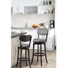 Sloan Swivel Bar Stool - Black Pewter