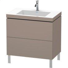 Furniture Washbasin C-bonded With Vanity Floorstanding, Basalt Matt (decor)