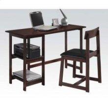 Espresso 2pc Pk Desk , Chair