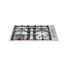 30 Drop-in low edge cooktop 4-burner Stainless Steel