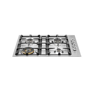 Bertazzoni30 Drop-in low edge cooktop 4-burner Stainless Steel