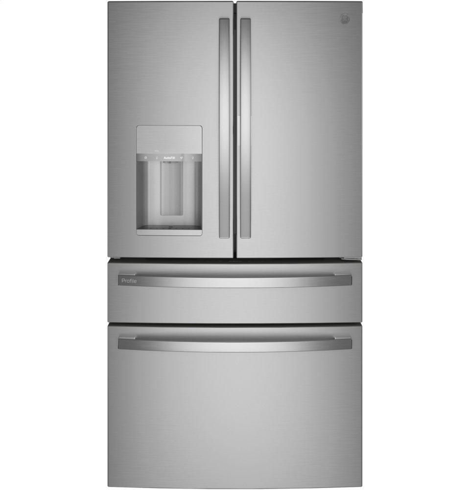 GE ProfileGe Profile(tm) 27.9 Cu. Ft. Smart Fingerprint Resistant 4-Door French-Door Refrigerator With Door In Door
