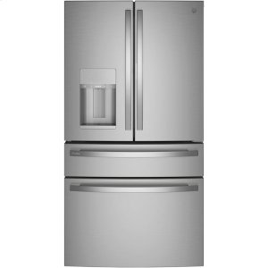 GE Profile27.9 Cu. Ft. Smart Fingerprint Resistant 4-Door French-Door Refrigerator with Door In Door