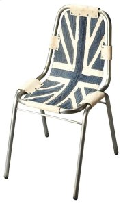This Side Chair features a denim canvas seat and back riveted to a sturdy, yet lightweight cast aluminum frame. Product Image