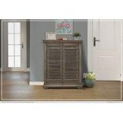 """34"""" Console w/2 push doors, Mango wood, gray finish Product Image"""