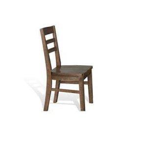 Sunny DesignsHomestead Ladderback Chair w/ Wood Seat