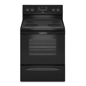 5.3 Cu. Ft. Freestanding Electric Range with Easy Wipe Ceramic Glass Cooktop - BLACK