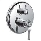 "7098kl-tm - 1/2"" Thermostatic Trim With 3-way Diverter Trim (shared Function) in Polished Chrome"