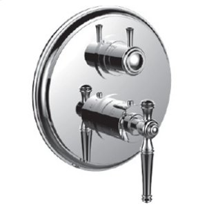 """7098kl-tm - 1/2"""" Thermostatic Trim With 3-way Diverter Trim (shared Function) in Satin Chrome"""