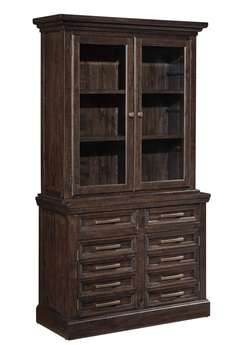 H636h2 In By Ashley Furniture In Peoria Il Townser Grayish Brown 2 Piece Home Office Set
