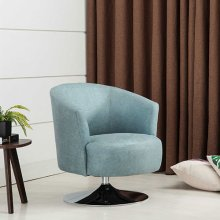 Twist Accent Chair in Teal Fabric