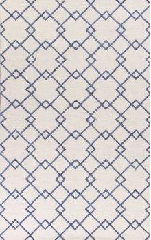 "Impressions 4612 Ivory/blue Courtyard 27"" X 45"""