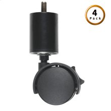 "2"" Leg with Screw-In Locking Rug Roller Caster, 4-Pack"