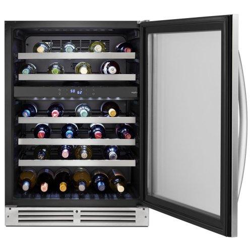 24-inch Wide Undercounter Wine Center with 46-Bottle Wine Storage