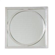 "Square Silver Leafed ""o"" Mirror."