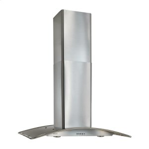 """Broan36"""" Arched Stainless Steel, Island Hood"""