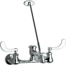 """Wall-mounted manual sink faucet with 8"""" centers"""