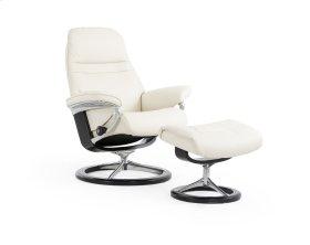 Stressless Sunrise Medium Signature Base Chair and Ottoman