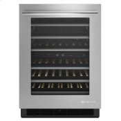 """Euro-Style 24"""" Under Counter Wine Cellar Stainless Steel"""