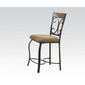 Counter H. Chair W/wood Decor