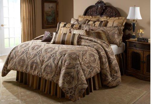 12 pc Queen Comforter Set Gold