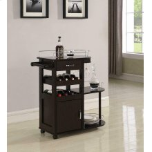 Transitional Cappuccino Serving Cart