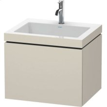 Furniture Washbasin C-bonded With Vanity Wall-mounted, Taupe Matt (decor)