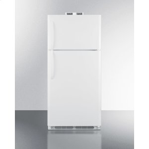 Summit18 CU.FT. Break Room Refrigerator-freezer In White With Nist Calibrated Alarm/thermometers