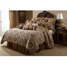 12 pc Queen Comforter Set Gold Product Image