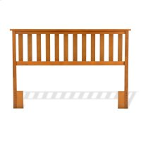 Belmont Wooden Headboard Panel with Slatted Grill Design, Maple Finish, Full / Queen Product Image