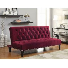 Burgundy Velvet Sofa Bed