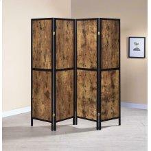 Industrial Antique Nutmeg Four-panel Screen