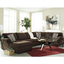 Signature Design by Ashley Jayceon 3-Piece Right Side Facing Sofa Sectional in Java Fabric