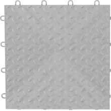 "12"" x 12"" Tile Flooring (48-Pack) Silver"