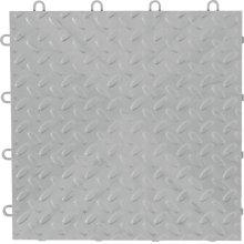 "12"" x 12"" Tile Flooring (48-Pack) Silver"