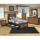 Aimwell - Dark Brown 3 Piece Bed Set (Twin) Product Image