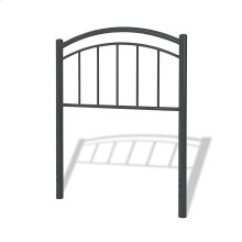 Rylan Metal Kids Headboard, Black Ink Finish, Twin