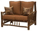 Hickory Log Frame Loveseat - Standard Fabric - Includes Fabric and Cushions Product Image