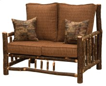 Hickory Log Frame Loveseat - Standard Fabric - Includes Fabric and Cushions