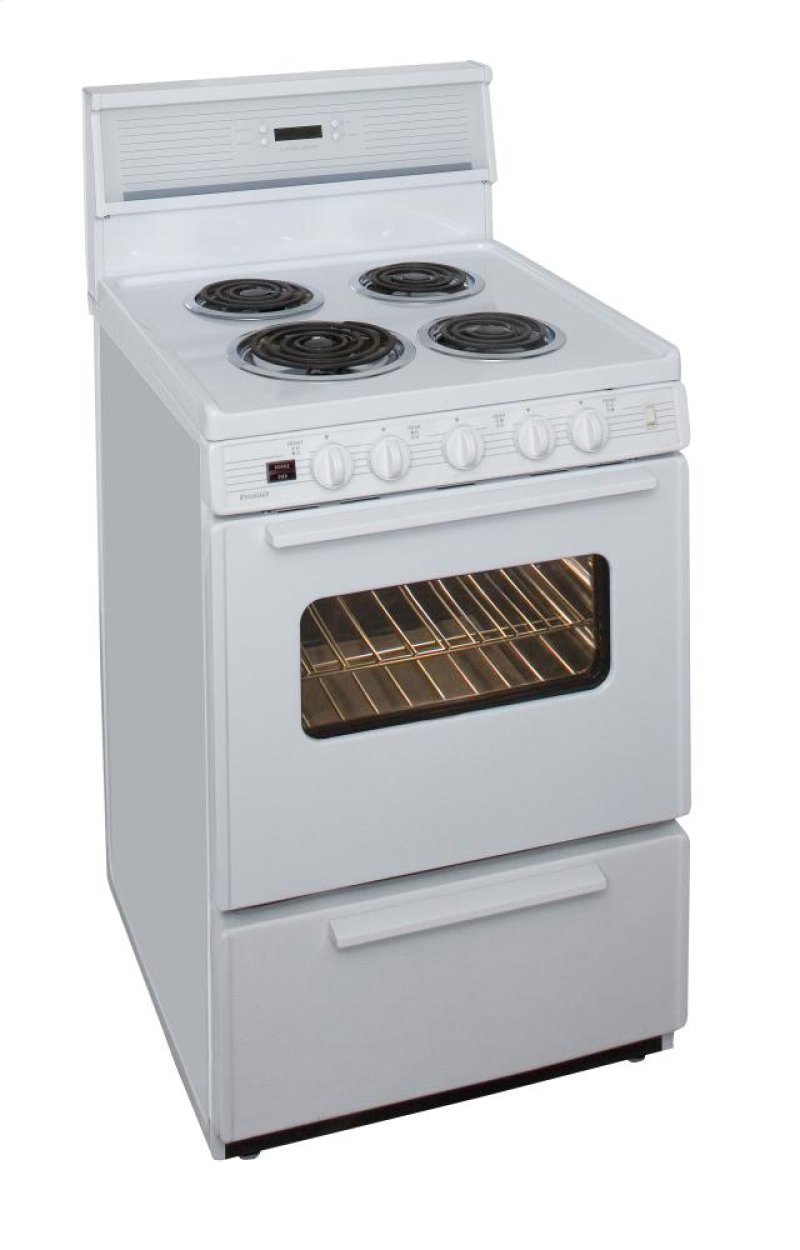 f1a4b07ea30 24 in. Freestanding Electric Range in White