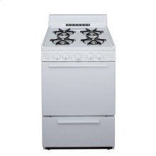 24 in. Freestanding Battery-Generated Spark Ignition Gas Range in White