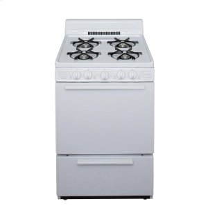 Premier24 in. Freestanding Battery-Generated Spark Ignition Gas Range in White