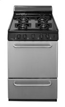 "24"" Freestanding Sealed Burner Gas Range in Stainless Steel Product Image"