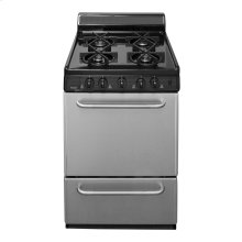 "24"" Freestanding Sealed Burner Gas Range in Stainless Steel"